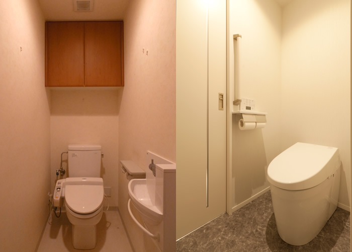 トイレのBefore → After。
